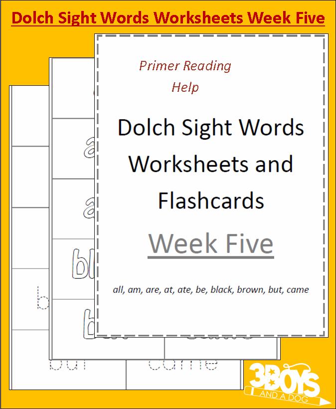 dolch sight words worksheets week five. Black Bedroom Furniture Sets. Home Design Ideas