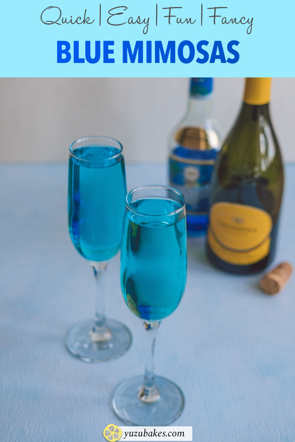 Blue Mimosa Tiffany Mimosa Recipe In 2020 Mimosa Blue Mimosa Recipe Interesting Food Recipes