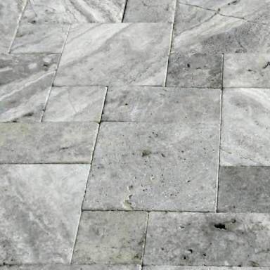 Silver Travertine French Pattern Travertine Pool Decking