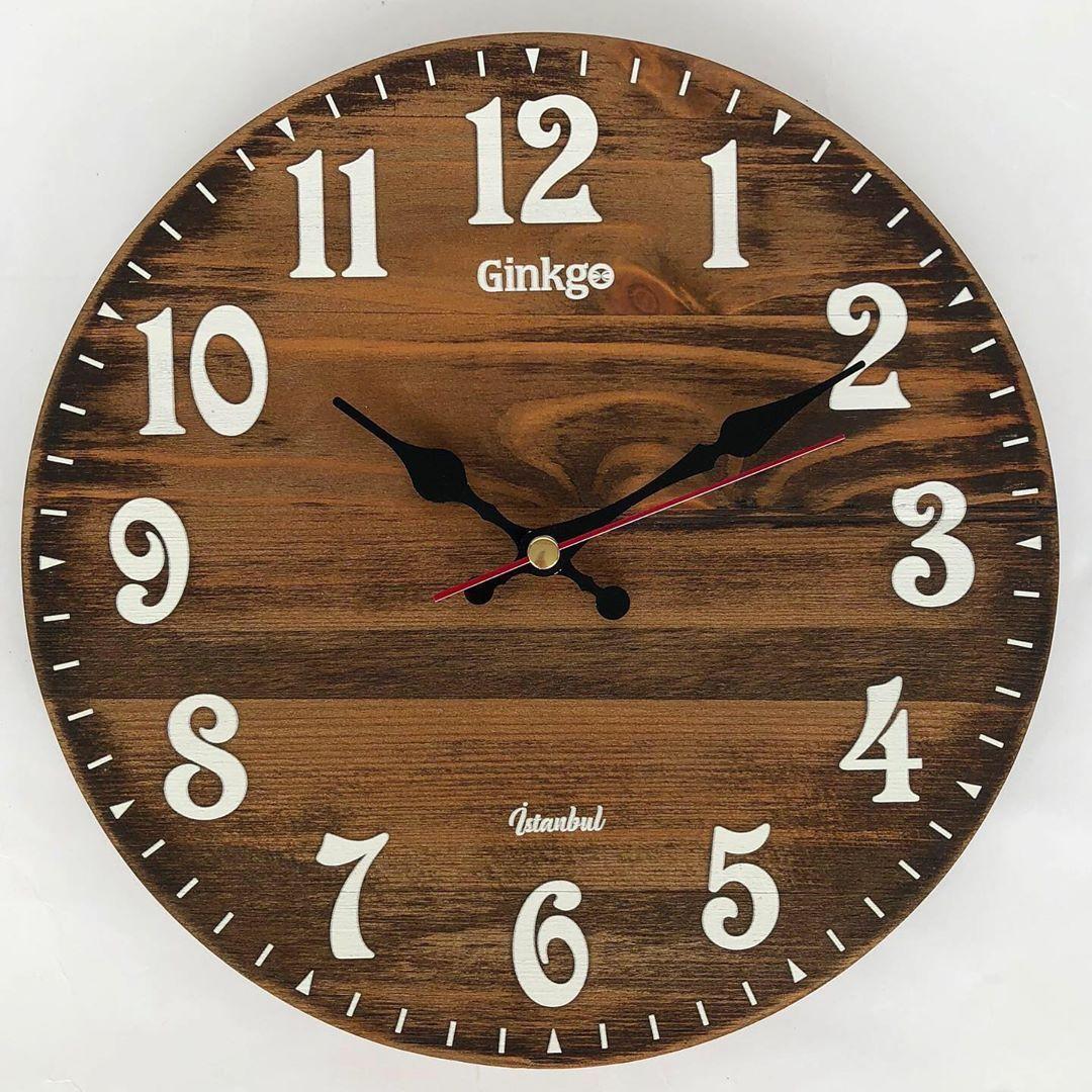 Naturholz Ginkgo Wanduhr Auslandsproduktion Günstig Produktentwicklung Personalisiertegeschenke Werbeartikel Wanduhren Wohnwa Wall Clock Clock Decor