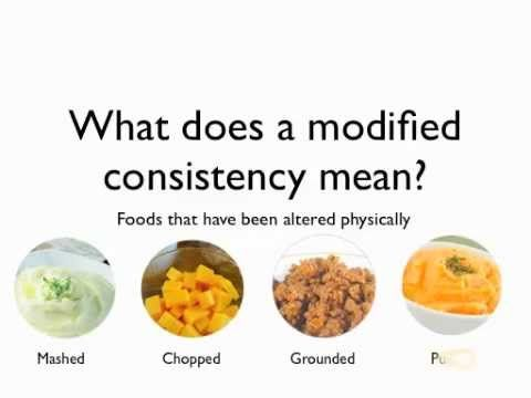 soft or chopped food diet