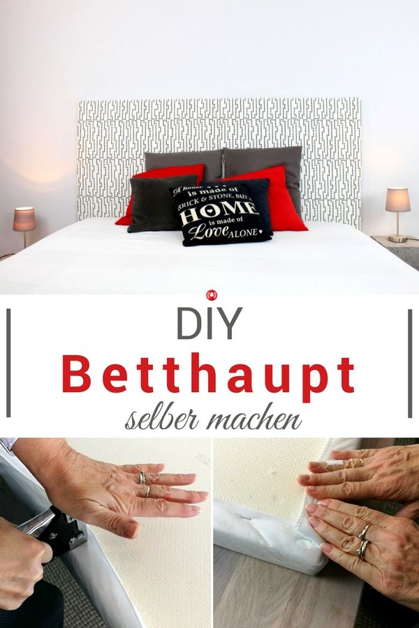 Tolles Schlafzimmer DIY Dieses Betthaupt Oder Auch Kopfteil Für Ein Bett  Kann Man Schnell Und Einfach