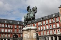 PLAZA MAYOR MADRID ESTATUA FELIPE IIII
