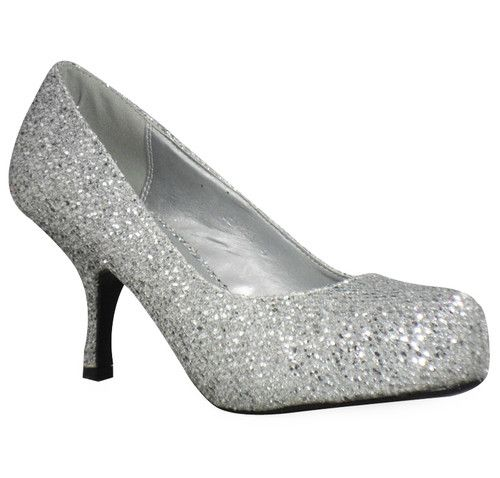 Bridal Shoes Wide Feet: Details About Ladies Women Party Glitter Wide Feet Low