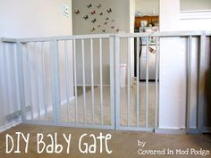 Diy Baby Gate For Extra Wide Openings Diy Baby Gate Diy Baby Stuff Baby Gates