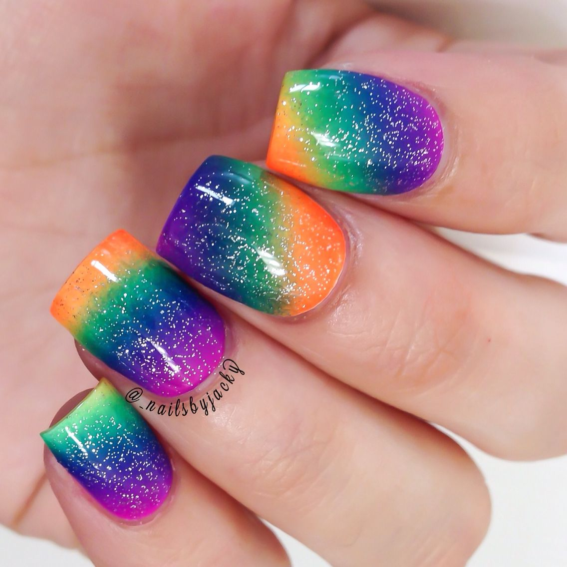 Tried to do a rainbow gradient | My Nail Art ❤ | Pinterest ...