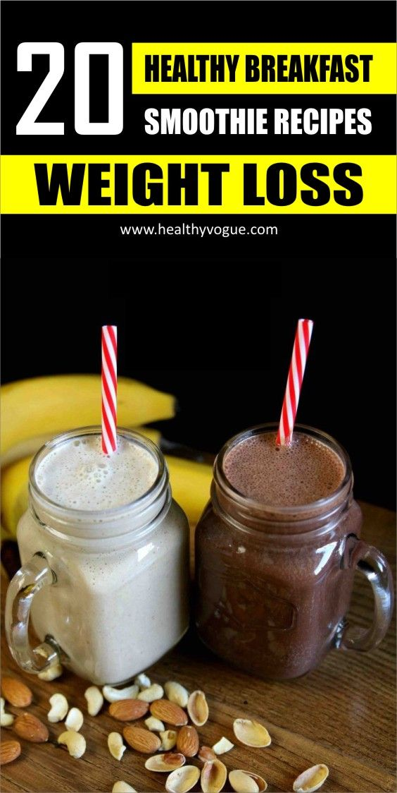 20 Healthy Breakfast Smoothies for Successful Weight Loss