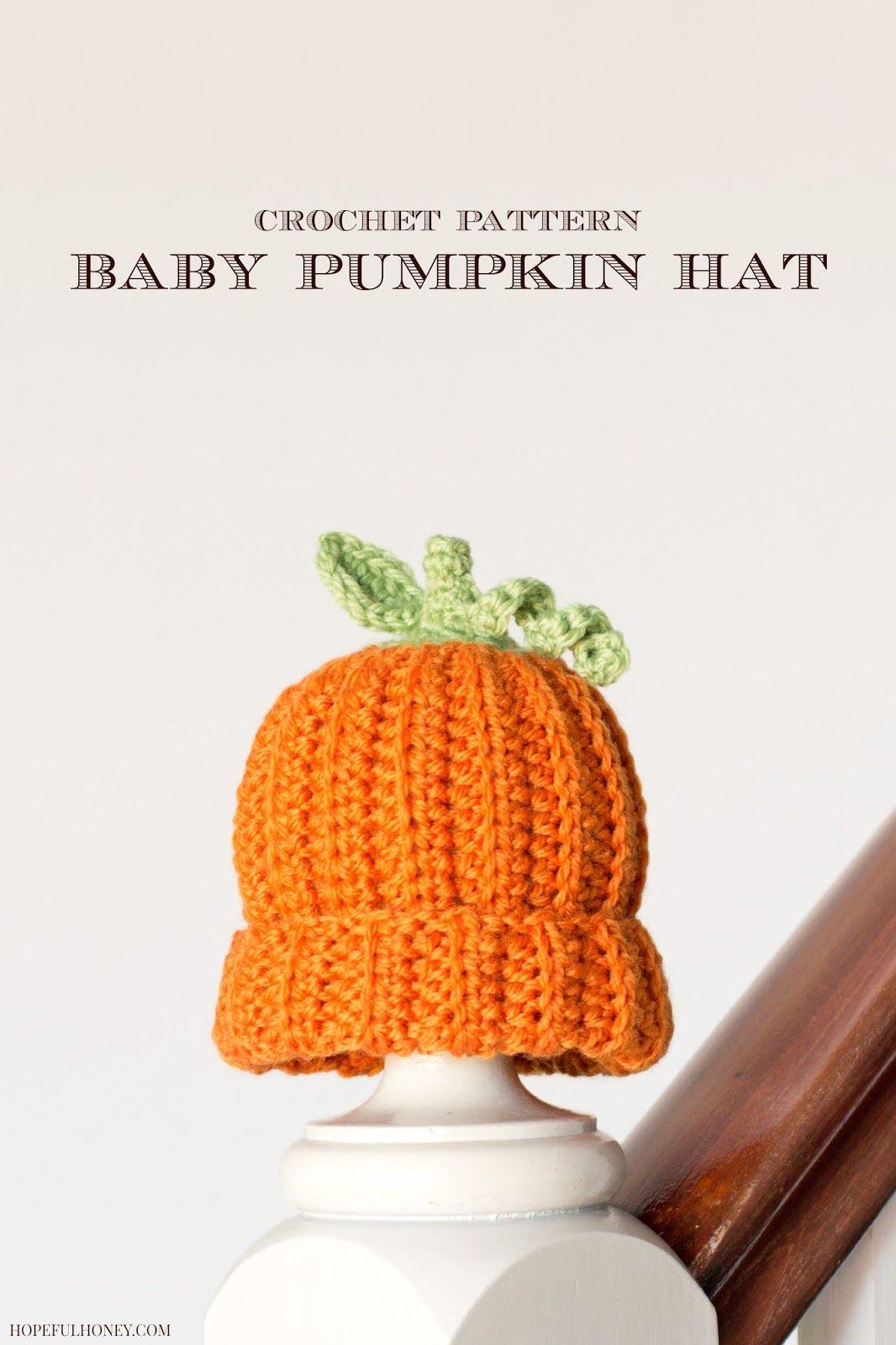 Newborn Pumpkin Hat Crochet Pattern  e3e5d3d8603