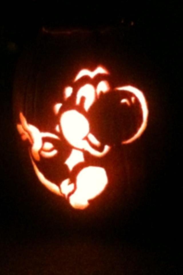 template yoshi pumpkin carving  Yoshi pumpkin carving | Tis the season | Pumpkin carving ...