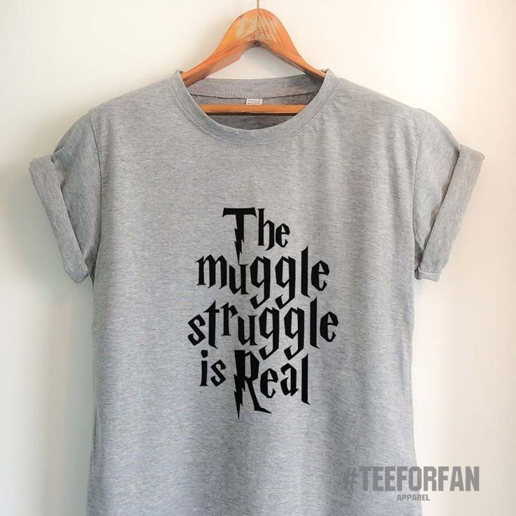 Harry Potter Shirts Merchandise The Muggle Struggle Is Real T Clothes Apparel Top
