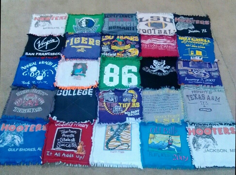 Finally finished my T- shirt quilt!!!
