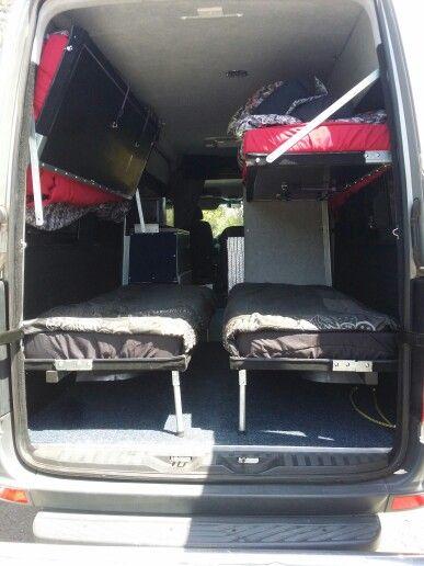 Sprinter Van Bunk Beds >> Sprinter 2009 Camper Conversion Bunk Beds Interior Vans