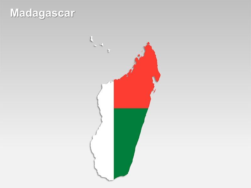 Editable PowerPoint Map Madagascar Map Editable PowerPoint Maps - Madagascar map outline
