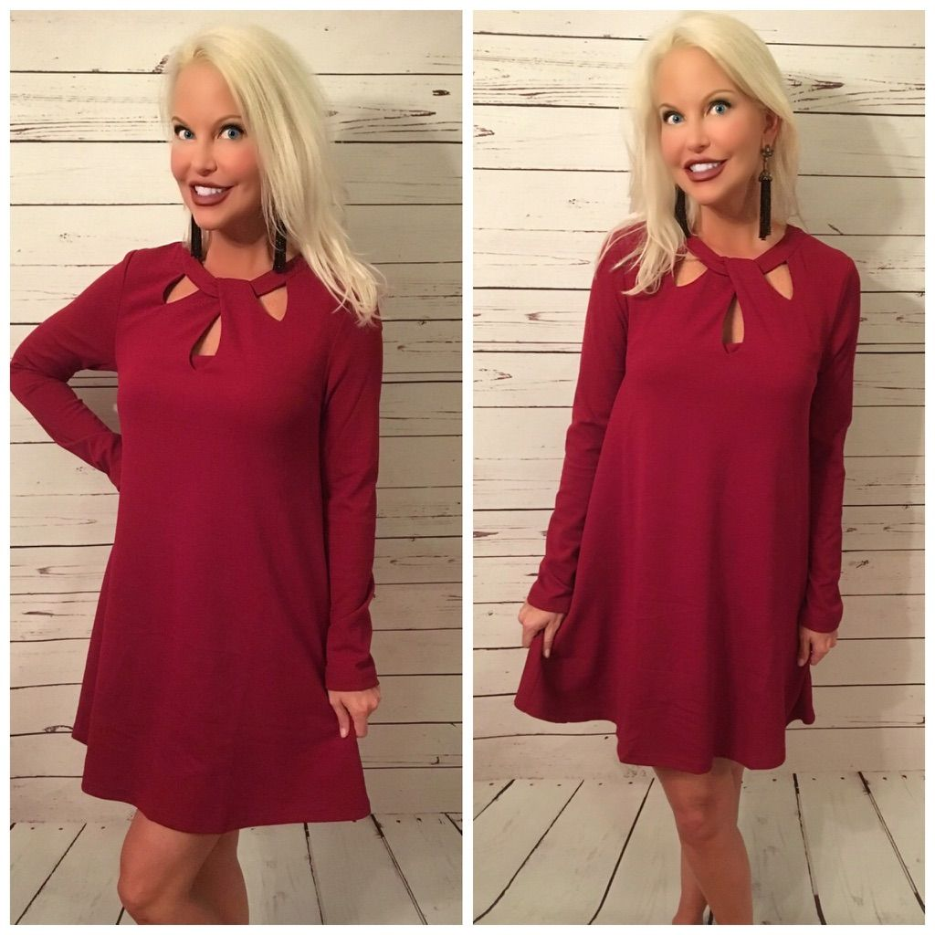 Available red cut out detail jersey knit dress jersey knit dress