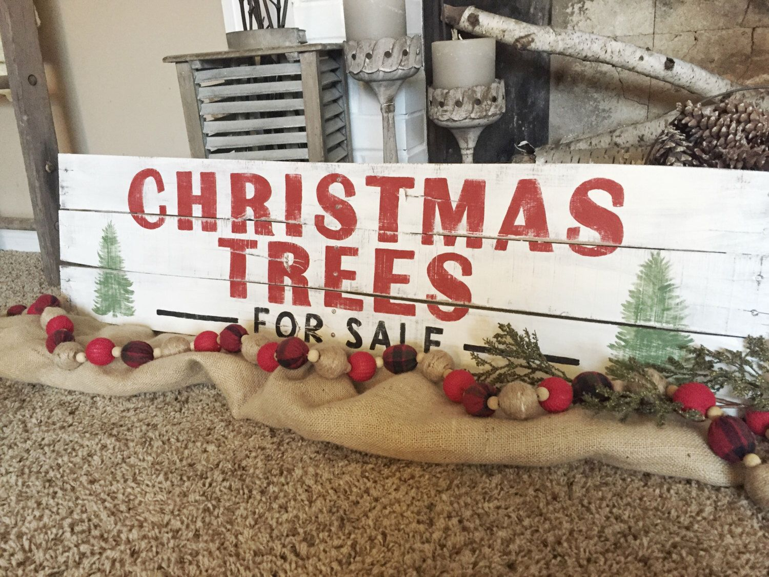 fixer upperjoanna gaines inspired christmas sign farmhouse christmas decor - Rustic Christmas Decor For Sale