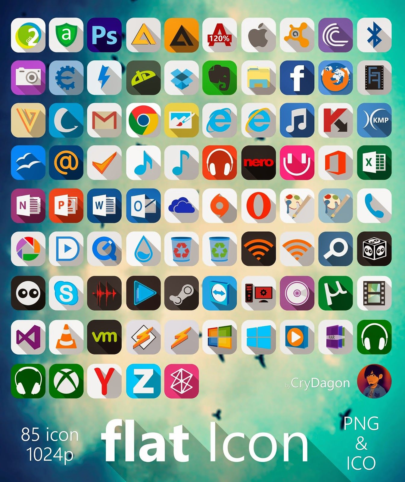 Pin by Cleodesktop on Icons | Icon pack, Hd icons, Flats