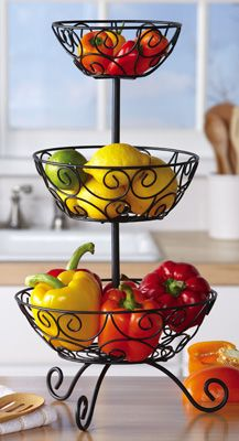 fruit basket for kitchen decor ideas on a budget 3 tier countertop tower stand and possibly more uses during the holidays