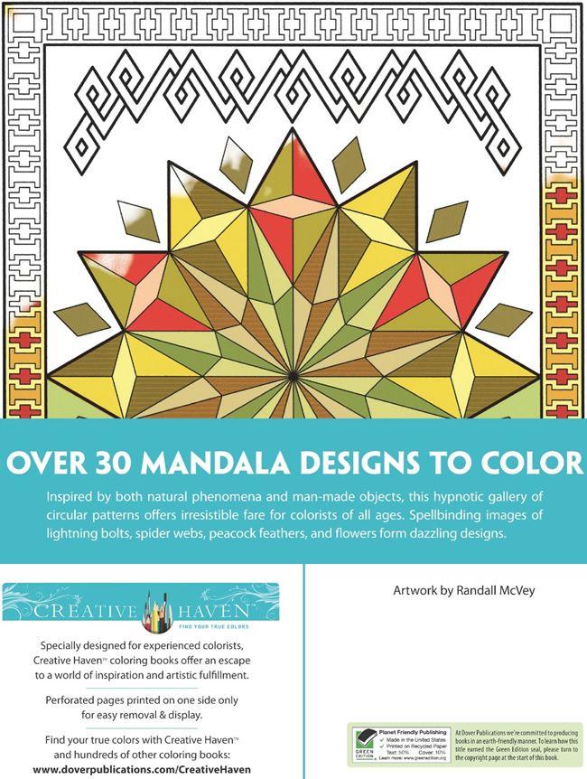 Creative Haven Mesmerizing Mandalas Coloring Book