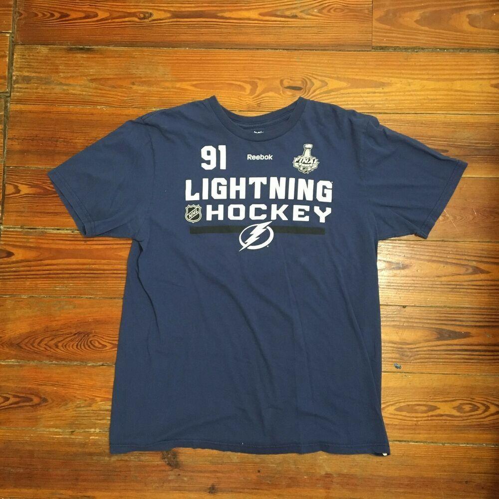 Tampa Bay Lightning NHL Hockey 91 Stamkos Tshirt Large