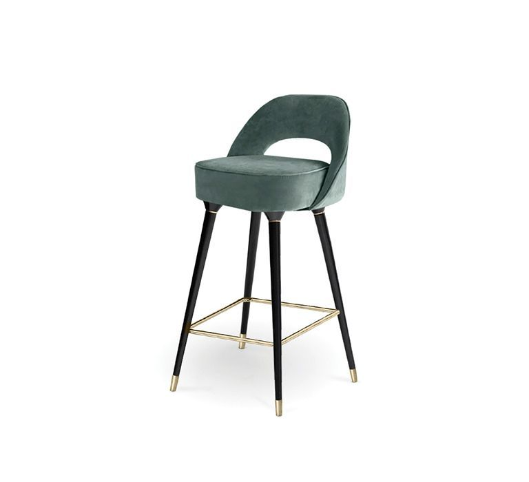 Essential Home Products collins bar chair | essential home | #upholstery #velvetbarstools