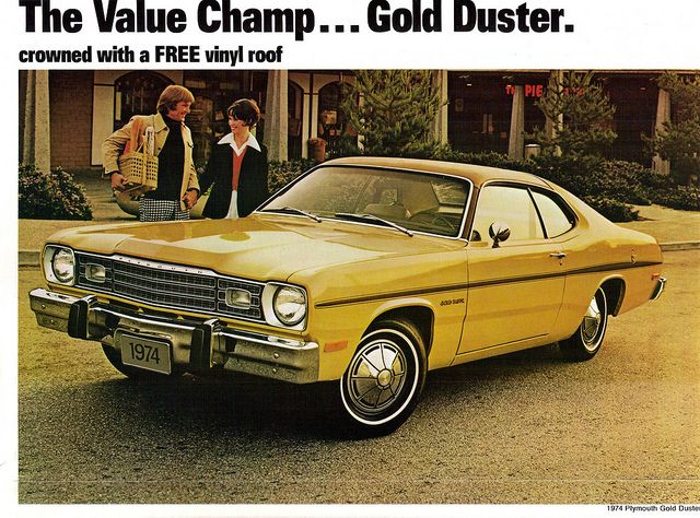 1974 Plymouth Gold Duster Coupe Plymouth Duster Vintage Muscle Cars Plymouth