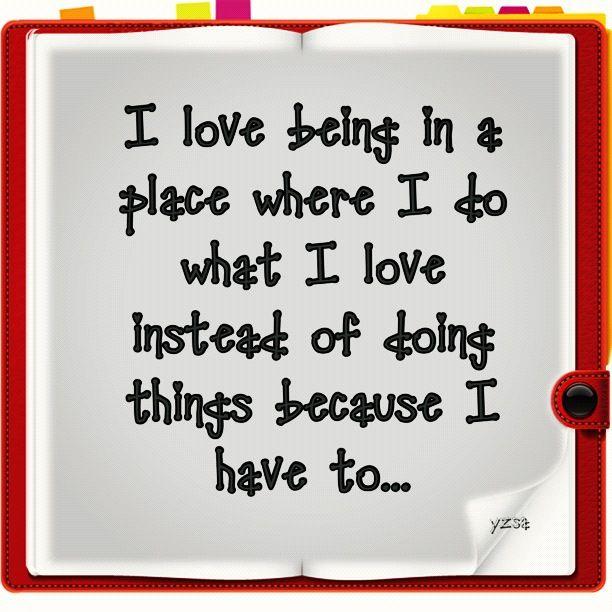 love my things...