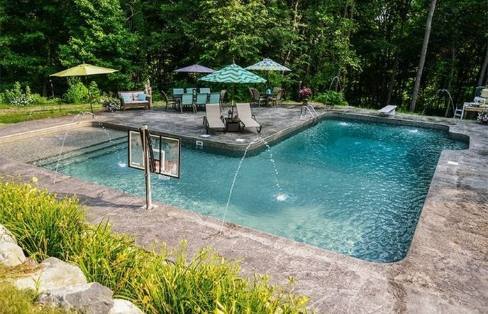 Photo of Inground Swimming Pool Designs Best L Shaped Pools Images L-shaped Coping For Wa…
