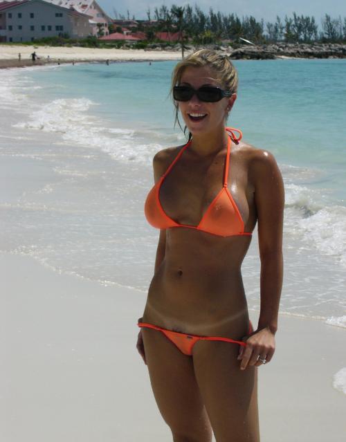 beach Naughty girls bikini