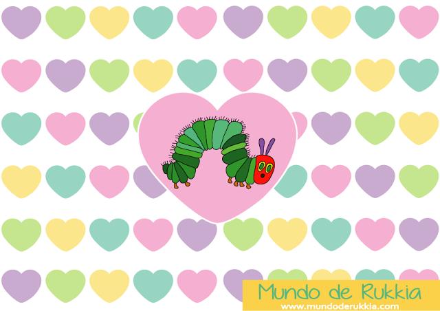 30 Imprimibles Gratis para Enamorar de la Pequeña Oruga Glotona ...