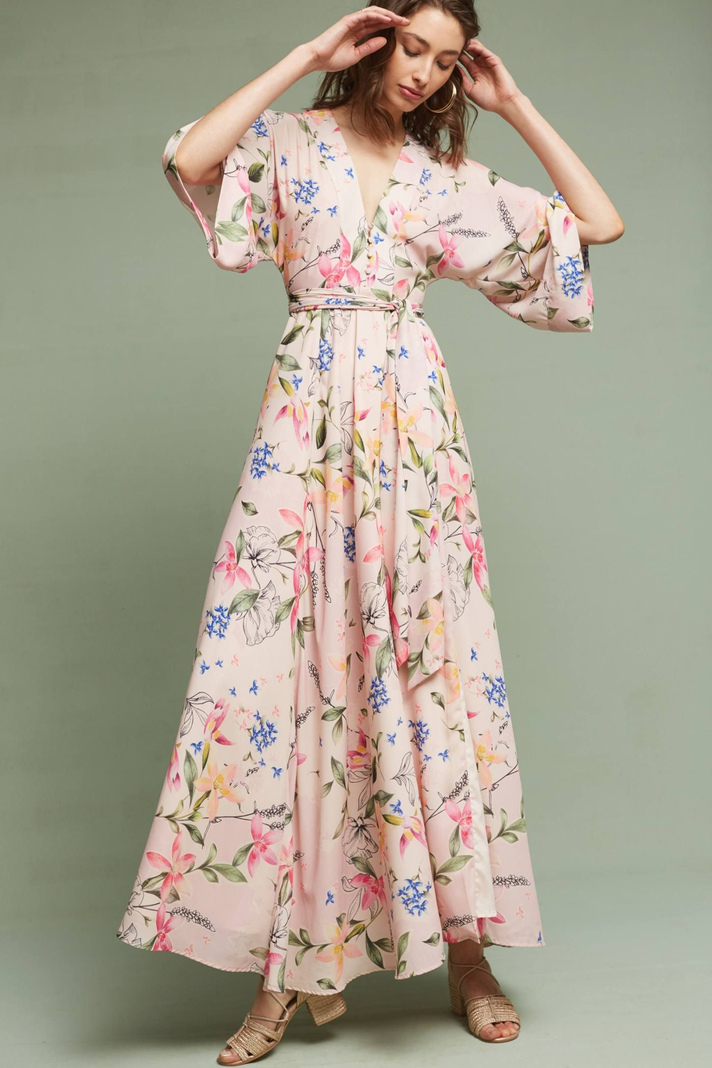Floral Kimono Maxi Dress Floral Dresses Long Maxi Dress Kimono Maxi Dress