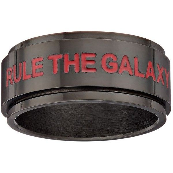 Star Wars: Episode VII The Force Awakens Men's First Order Stainless... ($40) ❤ liked on Polyvore featuring men's fashion, men's jewelry, men's rings, black, mens spinner rings, mens stainless steel spinner rings, mens watches jewelry, mens rings and mens stainless steel rings