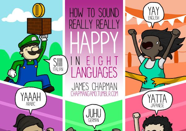How to sound really really happy in eight languages