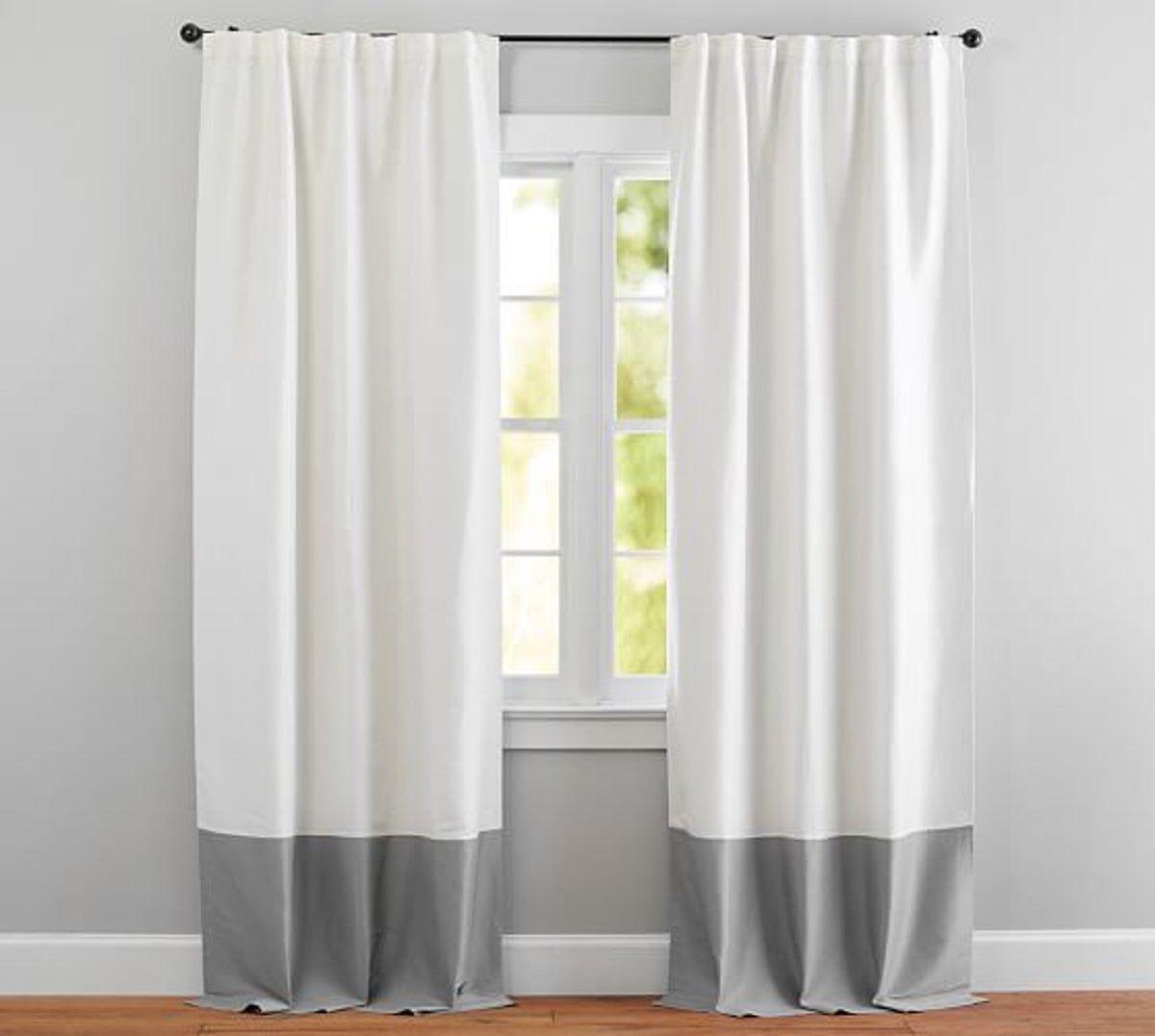 New Pottery Barn Linen Silk Drapes 96 Color Block Curtains Drapes Curtains Curtains