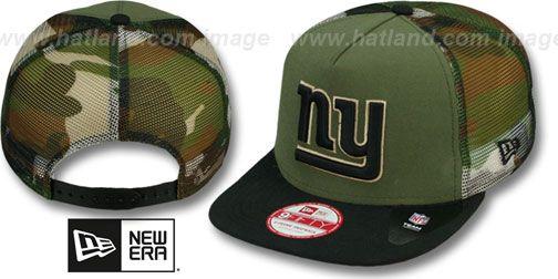 NY Giants  MESHED CAMO SNAPBACK  Army-Black Hat by New Era ... a2a67e3b149