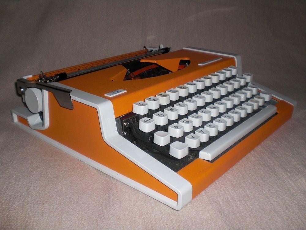 Mechanische Reiseschreibmaschine Unis tbm de Luxe mechanical typewriter