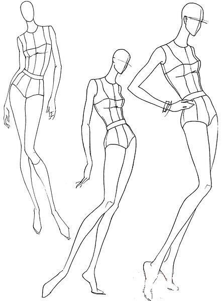 Plantillas Base Figurines De Moda Poses De Movimiento Fashion