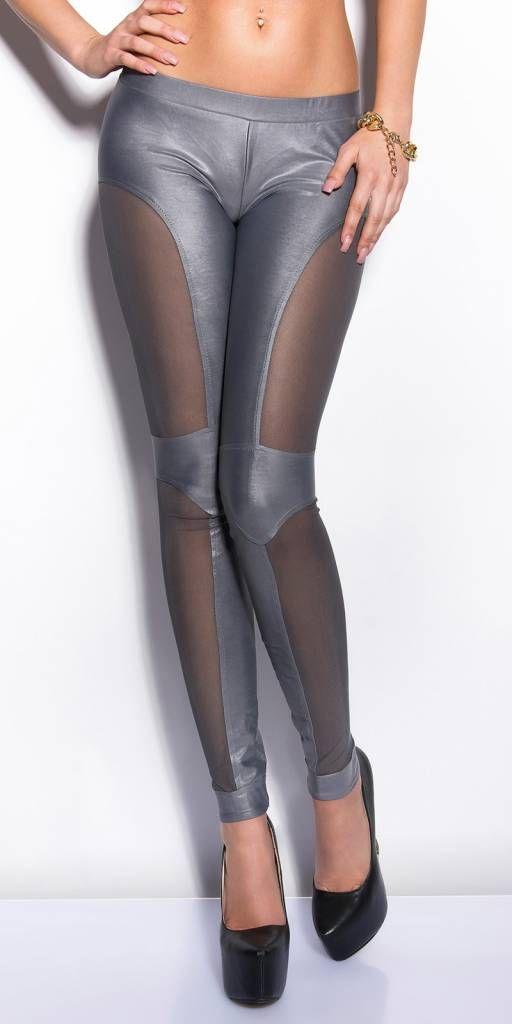 in-stylefashion KouCla Leggings mit Netz-Applikationen   Leggings ... 685c9e1d1a