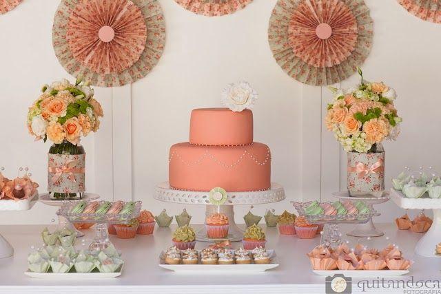 combinao de cores linda mesa linda decorao incrvel ch de beb