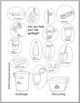 Recycling Worksheets for Kids | Worksheets, School and ...