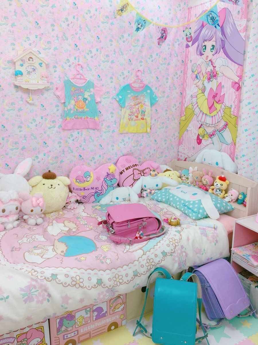 Japanese Bedrooms Have Numerous Fans If You Don T Have It Yet You Can Try To Find Inspiration Below Japanesebedro Kawaii Bedroom Kawaii Room Pastel Bedroom