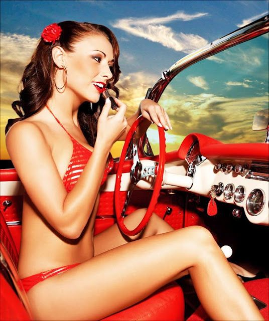 Sexy Girl An Car Vintage Vixens Pinterest Cars
