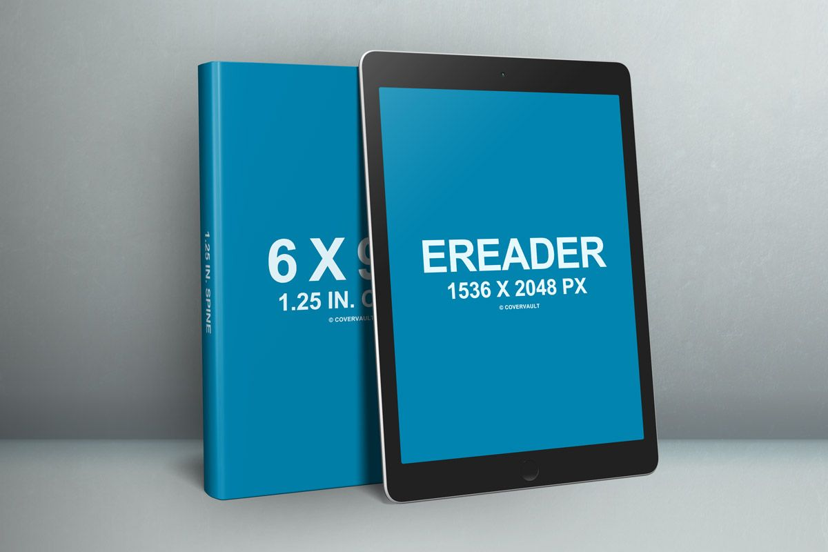 6x9 Book eReader iPad PSD template Mockup | Book Mockups | Pinterest