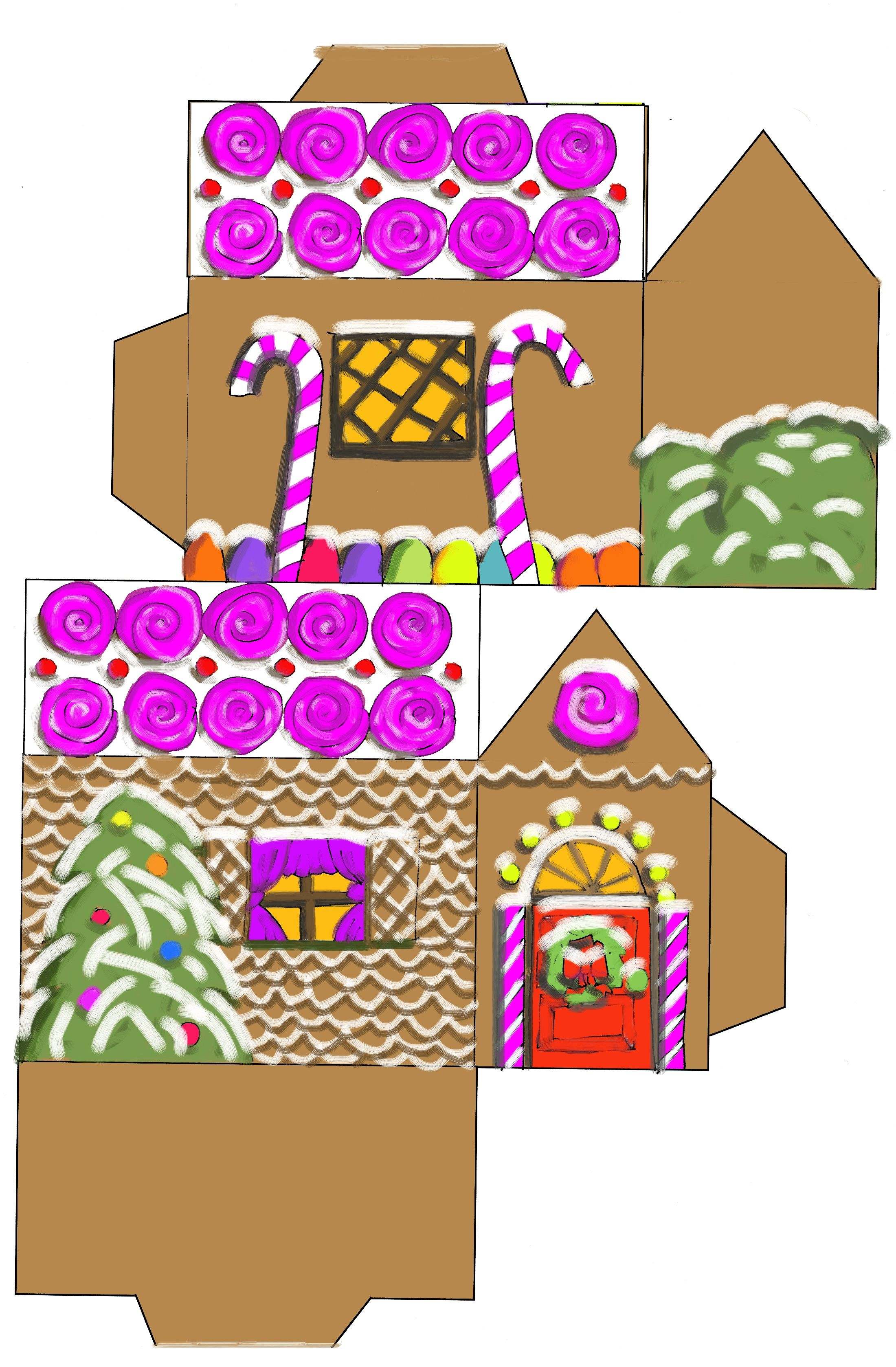 printable paper christmas houses gingerb house jpg christmas house printables yahoo image search results