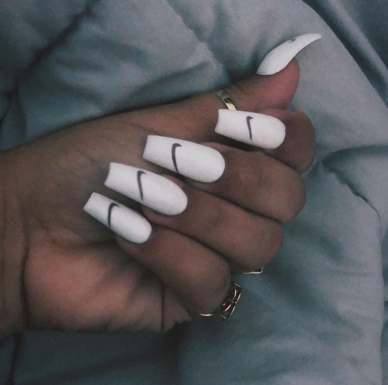Nike Acrylic Nails Nails Inspiration How To Do Nails Nails