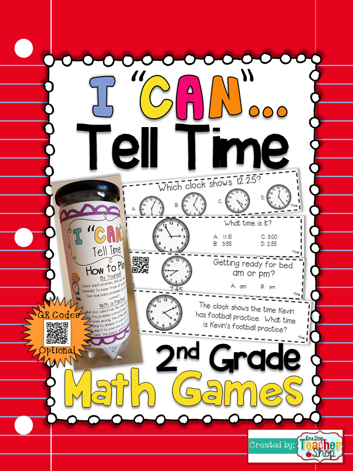 2nd Grade Telling Time to the Nearest 5 Minutes Game | 2nd Grade ...