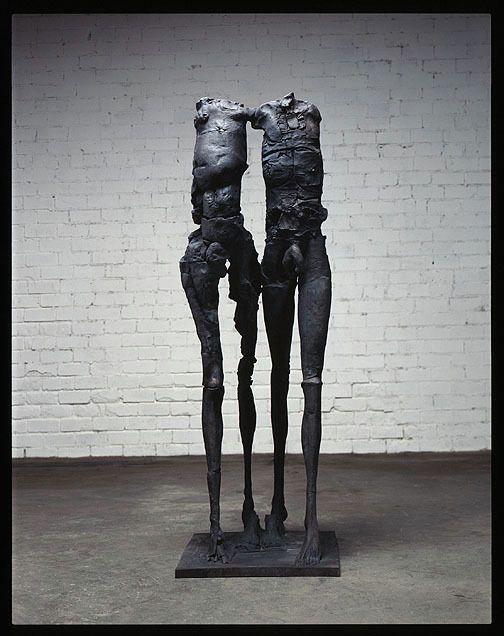 Man and Woman Walking, 1991, Bronze, AP/UC, 72 x 24.5 x 32 in. by Stephen De Staebler