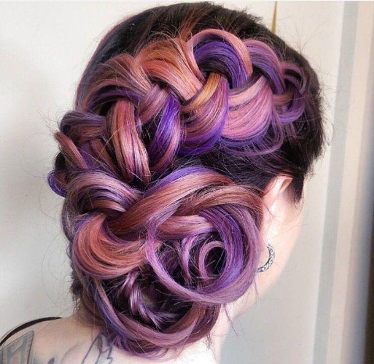 Epingle Par Cyntia Giron Sur Galaxy Hair Pinterest Cheveux