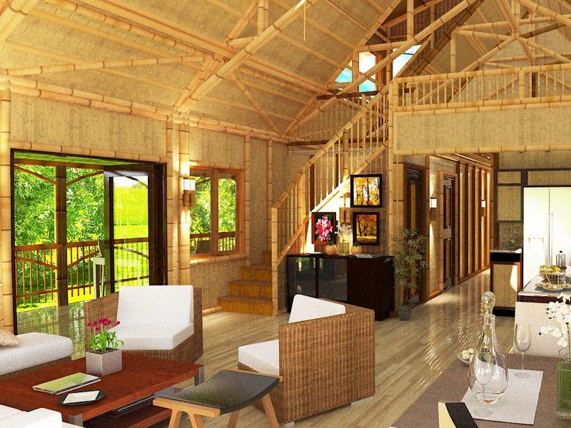 Polynesian 1619 Bamboo Home Interior Rendering | Simple ...