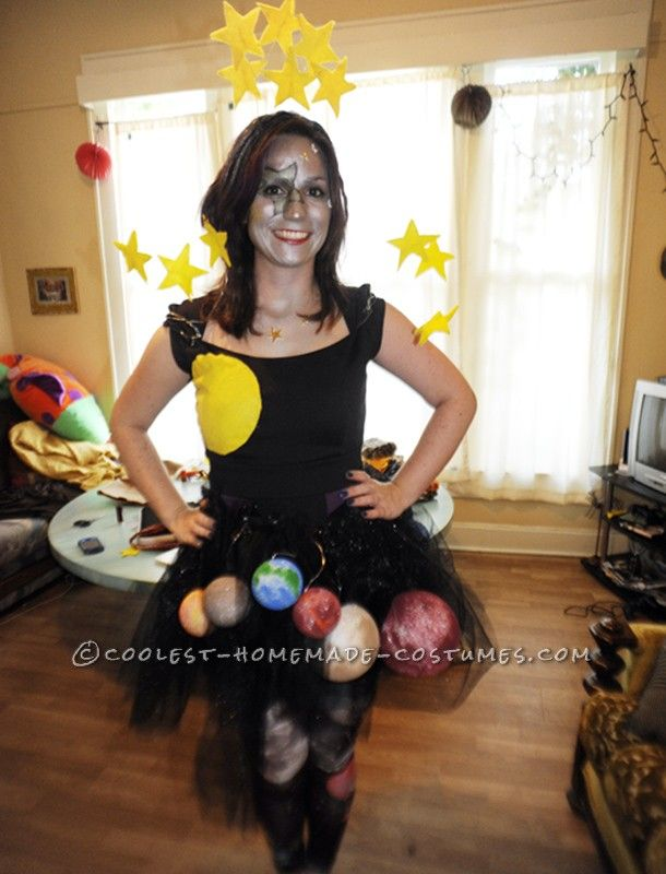 creative homemade ms universe costume - Universe Halloween Costume
