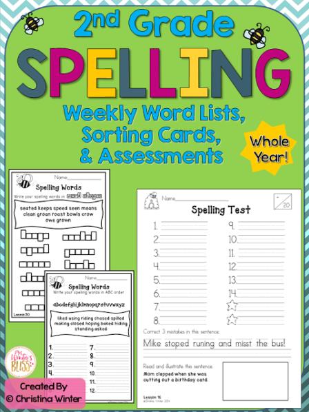 5 FREE Spelling Activities 2nd grade spelling words, 2nd